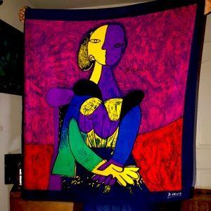 Picasso silk scarf